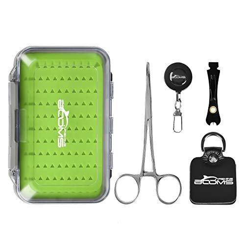 Ausleger Angeln FF1 Weste Pack Sortiment 4, Fly Fishing Tool Kit & Fly Box -
