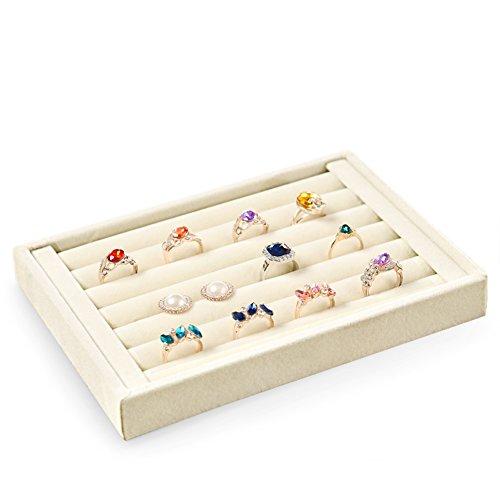 scatola di immagazzinaggio di semplici gioielli/Alta qualità velluto gioielli collana orecchino anello display vassoio/contenitore di orologio di moda-C