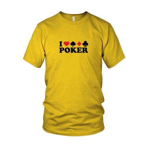 I love Poker - Herren T-Shirt, Größe: XXL, Farbe: ()