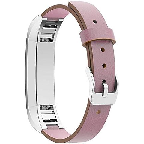 For Fitbit Alta ,Transer® Reemplazo de banda de cuero genuino pulsera de Lujo Correa Fitbit Tracker de alta