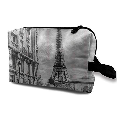 Travel Hanging Cosmetic Bags Retro Car Paris Effie Tower Multi-Functional Toiletry Makeup Organizer