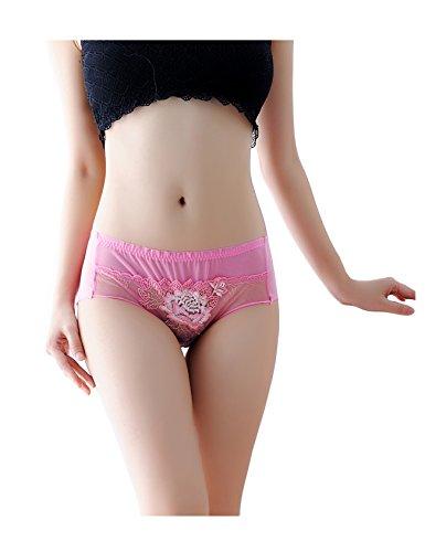 Legou Damen Blumen Unterwäsche Spitze Lace Ultradünner Atmungsaktive Slip Unterhose schlüpfer Rose