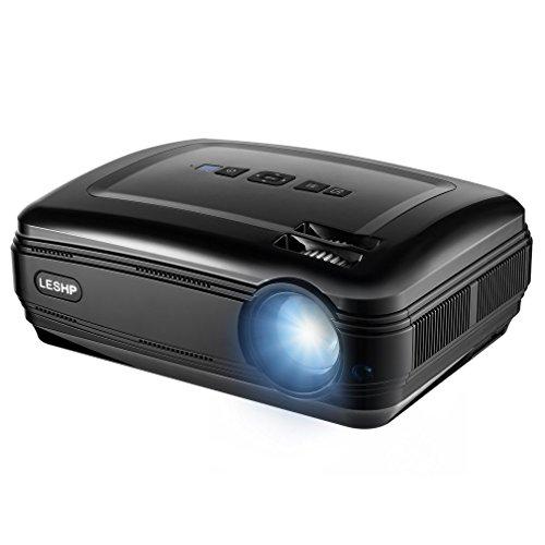ACEHE 720P LCD Video Projektor, HD Beamer, 3200 Lumens, unterstützt HDMI / VGA / AV / USB für Heimkino TV Laptop Spiele iPhone Android Smartphone 720p Lcd-tv