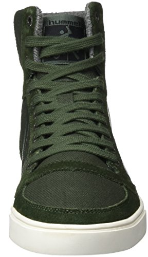 hummel Slimmer Stadil Smooth Canvas, Sneakers Hautes Mixte Adulte Vert (Rosin)