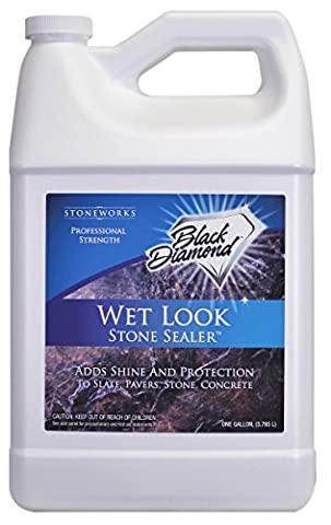 Wet Look Natural Stone Sealer From Black Diamond Stoneworks Provides Durable Gloss and Protection to: Slate, Stone, Concrete, Brick, Block, Sandstone, Driveways, Garage Floors. Interior or Exterior. 3.78LWet Look Natural Stone Sealer From Black Diamond Stoneworks Provides Durable Gloss and Protection to: Slate, Stone, Concrete, Brick, Block, Sandstone, Driveways, Garage Floors. Interior or Exterior. 3.78L