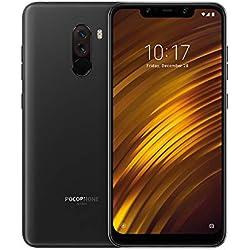 """Xiaomi POCOPHONE F1 - Smartphone Dual SIM de 6,18"""" (4G, Qualcomm Snapdragon 845 2,8 GHz, RAM de 6 GB, Memoria de 64 GB, Cámara Dual, Android) Color Negro grafito [Versión Española]"""