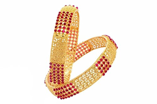 YouBella Gold Plated Bangles Jewellery For Girls/Women (2.6)