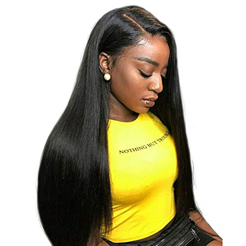 Perücke Human Hair Wig Glueless Glatt Unprocessed Virgin Remy Hair Full Lace Wig Natural Color Malaysian Straight Wig Echte Haare Full Lace Wig 22 zoll