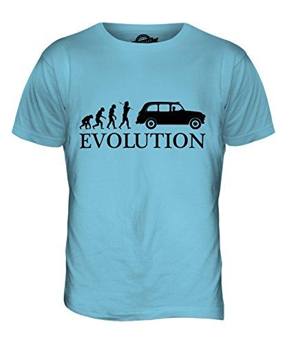 CandyMix Taxi Londoner Black Cab Evolution Des Menschen Herren T Shirt Himmelblau