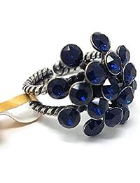 KONPLOTT Magic Fireball Ring verstellbar, Glas dunkelblau -5450527611800