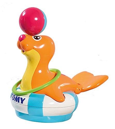 """TOMY Wasserspiel für Kinder """"Robin die Robbe"""" mehrfarbig - hochwertiges Kinderspielzeug für die Badewanne - fördert motorische Fähigkeiten - ab 1 Jahr"""