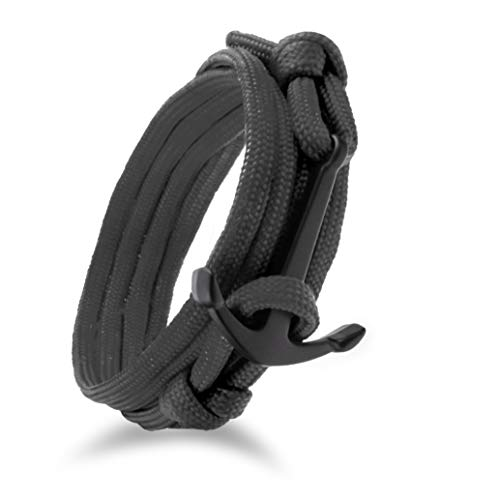 Urlaub Schmuck Kostüm - Design in Leather maritimes Anker Paracord Nylon Armband Kollektion raue See 1.0
