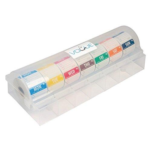 Etiquettes alimentaires solubles, à code couleur, avec distributeur. Dimension: 50mm