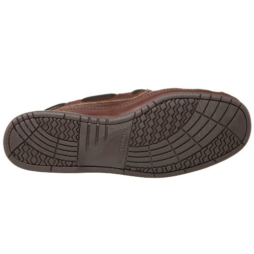 Minnetonka Men's Double Bottom Hardsole Dark Brown Lariat
