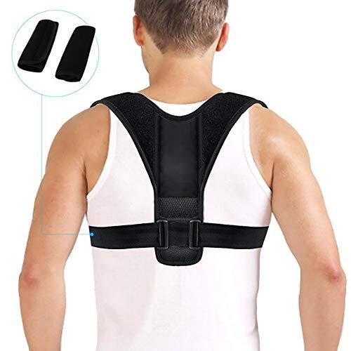Corrección de Postura, Fixget Posture Corrector para Mulheres e Homens Ajustável Na Parte Superior Das Costas Postura Corrector Brace Postura Terapêutica Da Parte Superior do Corpo Preparem (2)