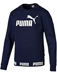 Blu Puma Felpa Uomo Full Zip Athletics Hoody TR Peacoat 06