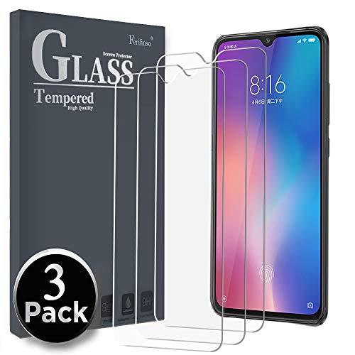 Ferilinso Cristal Templado para Xiaomi Mi 9 SE,[3 paquet] Protector de Pantalla Screen Protector con garantía de reemplazo de por Vida para Cristal Templado Xiaomi Mi ESSE