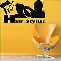 Wall Decal Hair Salon Hair Dryer Beauty Scissors Curling Stylist Signboard