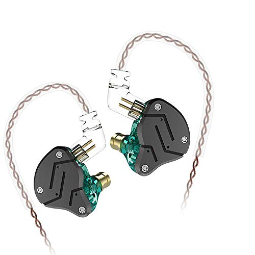KZ ZSN Headset Hybrid Technologie 1BA + 1DD HiFi Bass Ohrhörer In Ohr Monitor Sport Noise Cancelling Kopfhörer (Ohne Mikrofon, Cyan) Hybrid-kopfhörer-kopfhörer