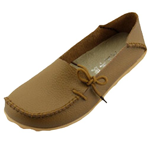 Vogstyle Moccasin Femme Casual Plat Tout-match Chaussures 33-43 Style-1 Khaki