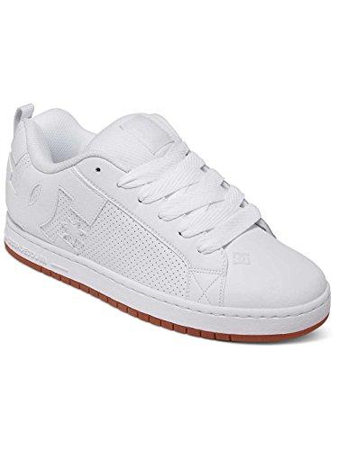 DC Shoes Court Graffik M, Chaussures de skate homme Blanc