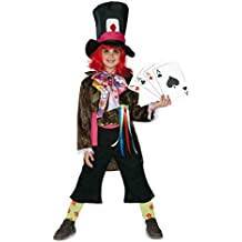 El Rey del Carnaval - Disfraz infantil sombrerero talla 9-11 años