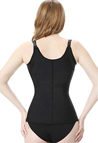 Everbellus Donna Latex Regolabile Shapewear corsetto Bustino vita Trainer Cincher corpo Shaper Nero