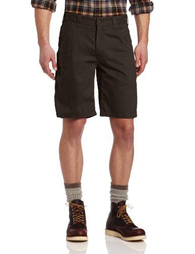 Carhartt Herren Latzhose aus gewaschenem Köper, kurz, entspannte Passform, 25,4 cm - Braun - 58 -