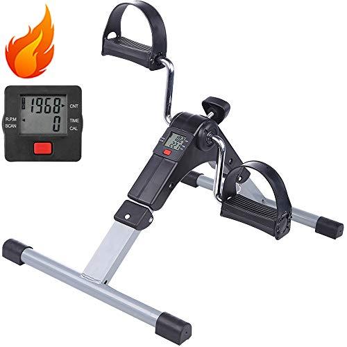AGM Mini Bike, Arm- und Beintrainer Heimtrainer,Hometrainer, Fitnesstrainer, Sportgerät,Minifahrrad Bewegungstrainer Fitnessgerät mit LCD-Bildschirmanzeige für Zuhause Büro.