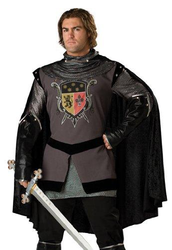 Generique - Schwarzer Ritter-Kostüm für Herren - Deluxe XL