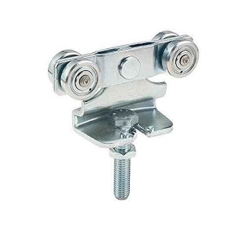 GedoTec® Schiebetürbeschlag Helm Agrar Rollapparat Doppelrollapparat Laufwerk für Laufschienen Schiebetor Profil 100 | Rollapparat 171 | Stahl verzinkt | Markenqualität für Ihren Wohnbereich