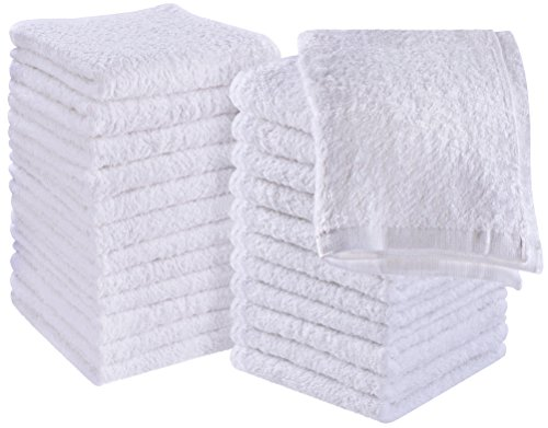 Utopia Towels - Waschlappen - 100{3161cb7b9343d3890864a2811a575697981d49d94348436629d854ac786b6563} Baumwolle - Mehrzweck Waschlappen - Hoch absorbierend Extra weich für Gesicht, Hand, Gym & Spa (24 Stück, 30 x 30 cm)