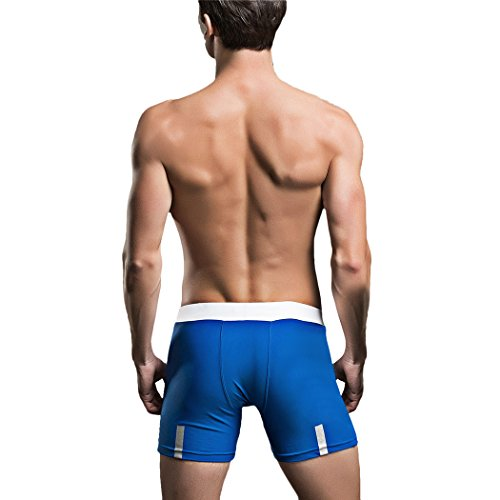 VENIMASEE® Mens Nylon Mixed Color Swimming Trunks Blau