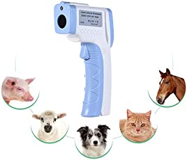 QNMM Handheld-Haustier-Infrarot-Thermometer Haustier Hund Katze Thermometer Berührungslose Infrarot-Thermometer Geeignet Für Haustiere, Um Körpertemperatur Zu Messen