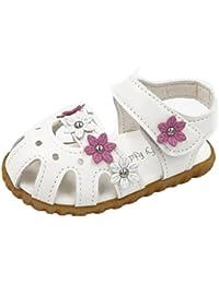 SMARTLADY Niña Zapatos Niñas Casual Verano Flor Plana Sandalia