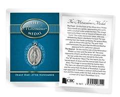 Idea Regalo - Confezione regalo Madonna Miracolosa 20mm medaglia ciondolo con catena 18