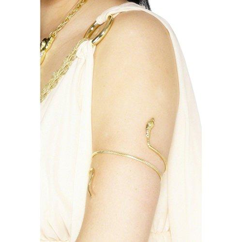 Schlangen Armband Schlangenarmreif Gold Schlangenarmband Schlangen Armreif Cleopatra Ägypterin Kostüm (Gold Schlange Armband)