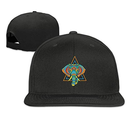 a77ca28df4e GJdd diy Elephant Mandala Snapback Unisex Adjustable Flat Bill Visor Baseball  Hat