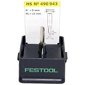 Festool 490943 HS Nutfräser HS-Stahl S8 D5/12