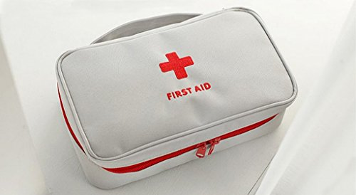 Qearly Polyester Care Plus First Aid Kit Verbandskasten Erste Hilfe Tasche-Gray
