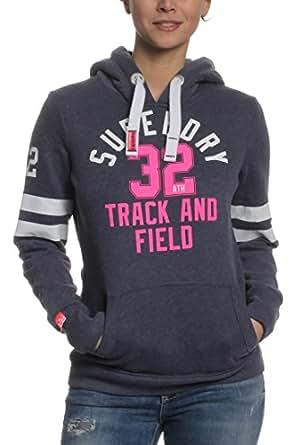 Superdry Sweater Women TRACK & FIELD Mid Denim Marl, Größe:M