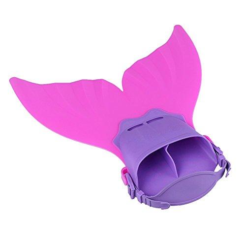 Yhcean Schwimmflossen für Kinder, Meerjungfrauenflossen, Rosa/Violett