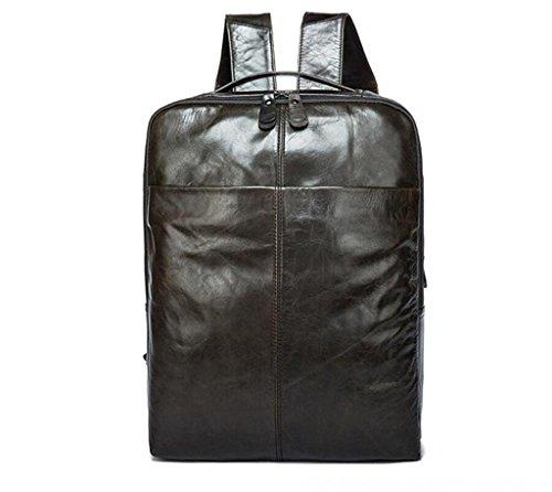 SHFANG Herren Leder Rucksack / Doppel Umhängetasche / Computer Tasche / Herren Rucksack / Reisetasche, Reisen / Schule , 2