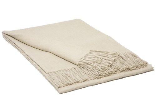 Baby Alpaca Throw Blanket Beige 51inch x 70inch (130cm x180cm) - Collection Royal - Beige