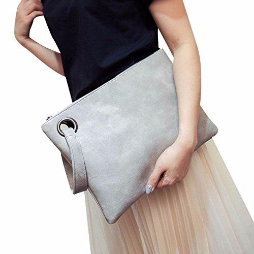 ZOONAI Übergroße Clutch Bag Geldbörse, Womens Große Leder Abend Wristlet Handtasche (Übergroße Handtasche)