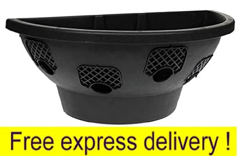 1 x Plantopia Easy Fill Wall Mount Hanging Basket / Planter, Black 20