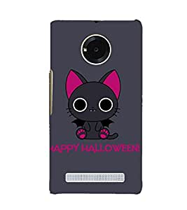 Kitty Happy Halloween 3D Hard Polycarbonate Designer Back Case Cover for YU Yuphoria YU5010