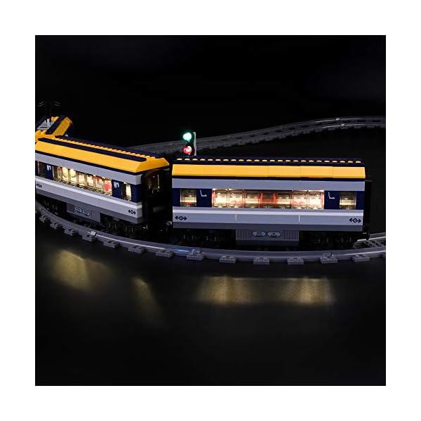 LIGHTAILING Set di Luci per (City Treno Passeggeri) Modello da Costruire - Kit Luce LED Compatibile con Lego 60197 (Non… 3 spesavip