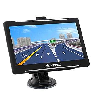 Navigationsgerät, Aonerex GPS Navi Navigation 7 Zoll Touchscreen Navigationssystem Mehrsprachig für Auto LKW PKW KFZ 8GB/256MB Lebenslang Kostenloses Kartenupdate 52 Karten für Europa UK