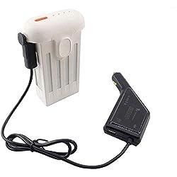 Mnjin Cargador de Coche USB Ultraligero y portátil Control Remoto Cargador de batería Carga rápida Compatible con Xiaomi Drone